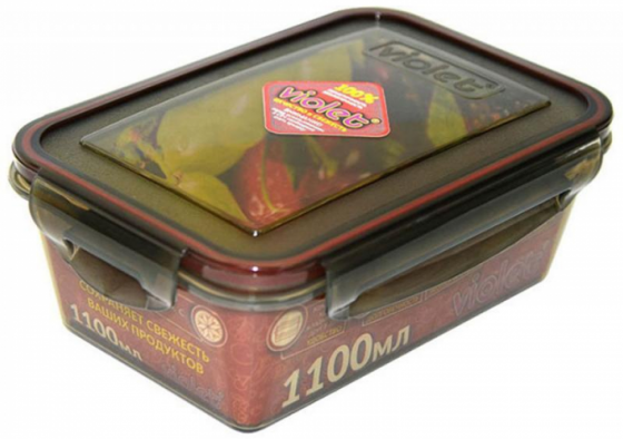 цена на Контейнер Violet 093/111 дымчатый 1100 мл