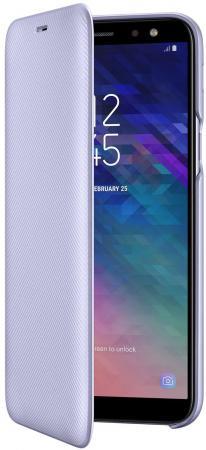 Чехол (флип-кейс) Samsung для Samsung Galaxy A6 (2018) Wallet Cover фиолетовый (EF-WA600CVEGRU)