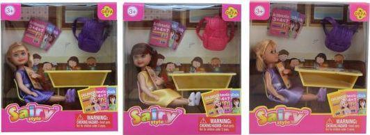 Кукла Defa Sairy Школьница, 15 см, 8 аксесс., в ассорт.