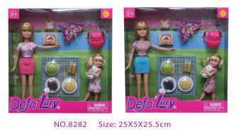 Набор кукол Defa Lucy Пикник 2 шт, аксесс.9 предм., в ассорт. кукла defa lucy модная white light blue 8316bl