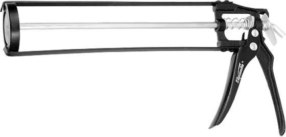 Пистолет для герметика SPARTA 886125 310мл скелетный усиленный с фиксатором 6-гранный шток 6 мм пистолет для герметика stayer 0666 310мл master скелетный усиленный