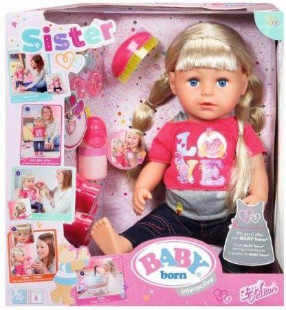 Кукла ZAPF Creation BABY born Сестричка 43 см поющая пьющая 820-704 кукла zapf creation baby born сестричка русалочка 43 см 824 344