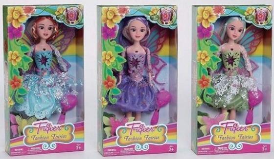 Кукла Фея с крылышками и аксессуарами, 3 вида, в ассорт. disney fairies бутик фея с аксессуарами 11см 762660