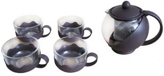Чайный набор Irit KTZ-075-004 коричневый 0.75 л стекло цены