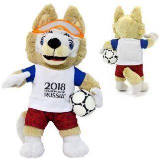 Фигурка FIFA 2018 Волк Забивака 21 см Т11250 1toy мягкая игрушка fifa 2018 1toy волк забивака 28 см