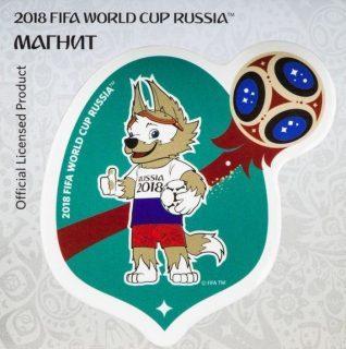 Магнит картон FIFA 2018 Забивака РОССИЯ