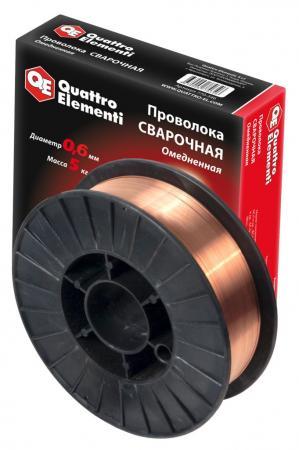 Проволока сварочная QE 770-346 омедненная 0.6мм, 5кг