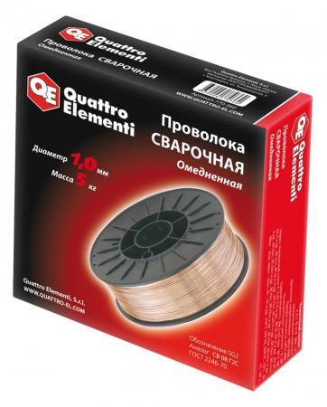 Проволока сварочная QE 770-360 омедненная 1.0мм, 5кг
