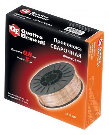 Проволока сварочная QE 770-377 флюсовая 0.8мм, 5кг нагреватель воздуха газовый quattro elementi qe 10g 911 536