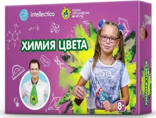 Набор для опытов INTELLECTICO Химия цвета
