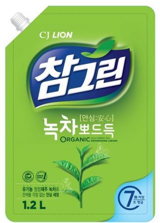 Средство для мытья посуды CJ Lion Chamgreen: Зеленый чай 1.2л бальзам для мытья посуды зеленый чай frosch 0 5 л
