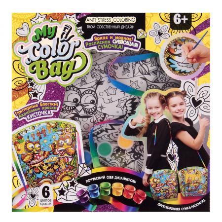 Набор креативного творчества ДАНКО-ТОЙС сумка-раскраска Совы от 6 лет