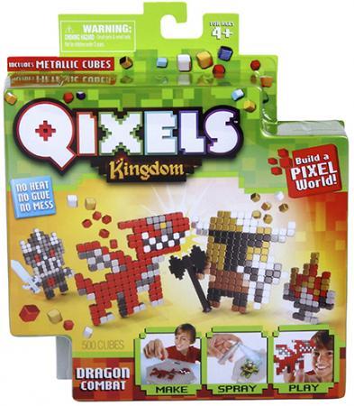 Набор для творчества Qixels Поединок с драконом от 4 лет 87108 конструктор пираты qixels