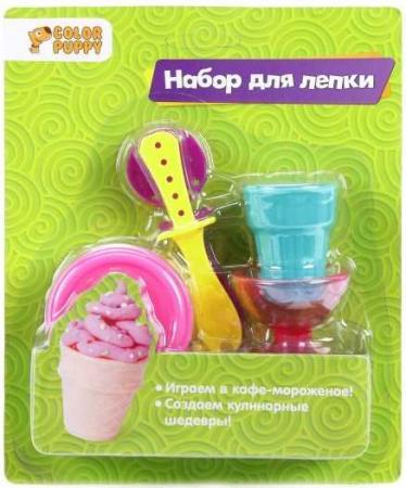 Набор для лепки Стаканчик мороженого, тесто 25г, аксессуары набор для лепки мороженое тесто 25г аксессуары
