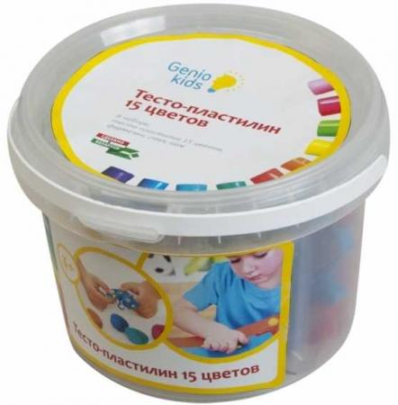 Набор для детской лепки Тесто-пластилин 15 цветов набор для лепки смехторг умный пластилин nauty putty page 2