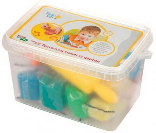 Набор для лепки GENIO KIDS Тесто-пластилин 12 цветов набор для лепки bic kids пластилин 12 цветов 120гр 947713
