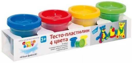 Набор для детского творчества Тесто-пластилин 4 цвета genio kids набор для детского творчества котик