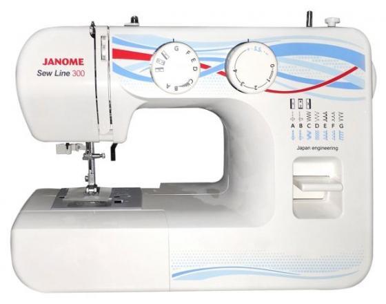 Швейная машина Janome Sew Line 300 белый швейная машинка janome sew line 300 белый