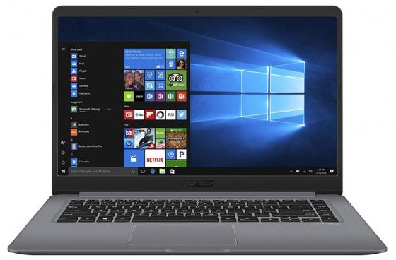 Ноутбук ASUS VivoBook S15 S510UN-BQ193T 15.6 1920x1080 Intel Core i3-7100U 1 Tb 6Gb nVidia GeForce MX150 2048 Мб серый Windows 10 Home 90NB0GS5-M05100