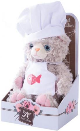 Мягкая игрушка котенок Angel Collection Cat story Поваренок 20 см искусственный мех 681344 цена