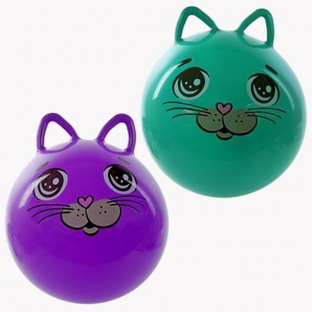 Мяч-попрыгун Moby Kids Котенок пластик от 3 лет цвет в ассортименте 635587
