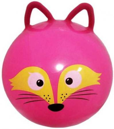 Мяч-попрыгун Moby Kids Лисенок пластик от 3 лет розовый 635196 мяч попрыгун moby kids котенок пластик от 3 лет цвет в ассортименте 635588