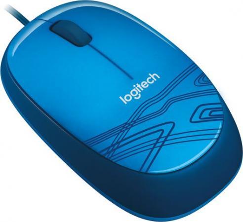 все цены на Мышь проводная Logitech M105 синий USB 910-003114