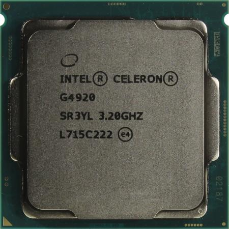 Процессор Intel Celeron G4920 3.2GHz 2Mb Socket 1151 OEM процессор intel celeron g4920 3 2ghz 2mb socket 1151 oem