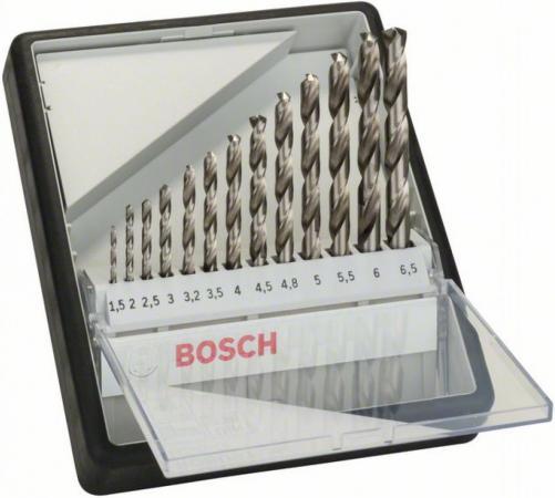Набор сверл BOSCH Robust Line HSS-G 13 шт. (2.607.010.538) металл, 1.5-6.5мм, 13шт. набор сверл bosch robust line hss g 6 шт 2 607 010 529 металл 2 8мм 6шт