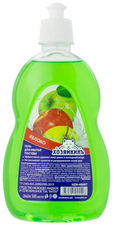 Средство для мытья посуды ХОЗЯЙКИНЪ Яблоко 500мл средство для мытья посуды organic people органическое яблоко и киви 500мл