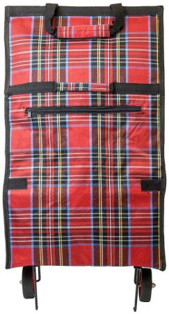 Сумка хозяйственная складная, с маленькими колесиками, размер сумки 55х35х17см, цвета ассорти шотла