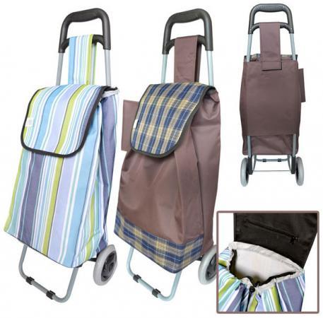 Сумка-тележка хозяйственная,на колесиках, размер 33 x 20 x 55 см, ассорти 2 цвета сумка хозяйственная rolser на колесиках цвет verde 40 л