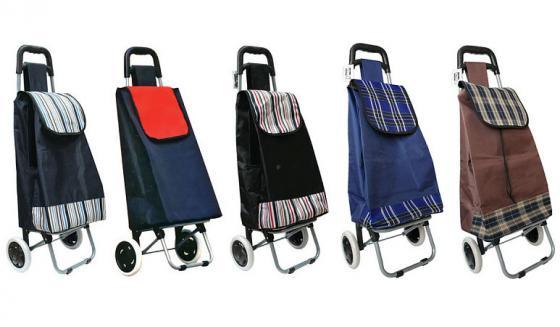 Сумка-тележка хозяйственная,на колесиках, размер сумки 32х23х57 см, ассорти 5 цветов