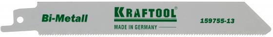 Полотно пильное KRAFTOOL 159755-08 INDUSTRIE QUALITAT BiMetaLL по металлу шаг1.4мм 80мм полотно пильное kraftool 159705 u28