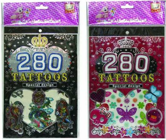 Альбом с наклейками для тела ТАТУ-СТИЛЬ, 280 наклеек, ассорти 2 дизайна цены онлайн