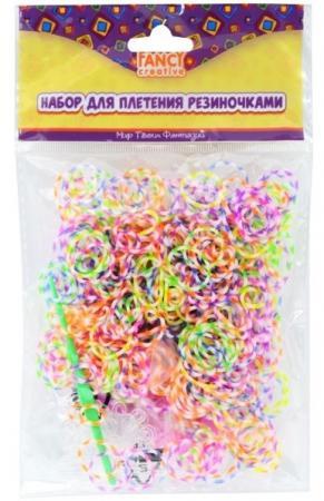 Набор для плетения fancy creative Радужные резиночки 600 шт игровой набор shantou chenghai мелок для волос блеск для губ резиночки 6 шт