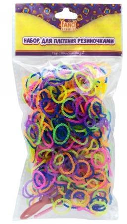 Набор для плетения fancy creative Резиночки рельефные 600 шт FD030068 игровой набор shantou chenghai мелок для волос блеск для губ резиночки 6 шт