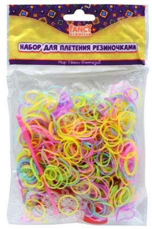 Набор для плетения fancy creative Резиночки-светяшки 600 шт FD030066 игровой набор shantou chenghai мелок для волос блеск для губ резиночки 6 шт