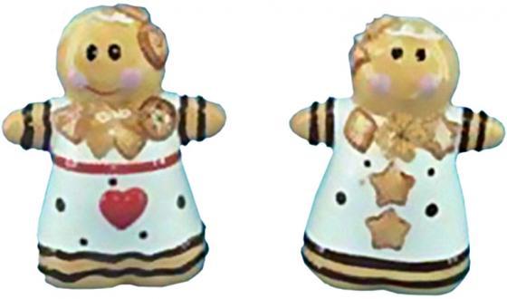Набор для специй ПРЯНИЧНЫЕ ЧЕЛОВЕЧКИ, 2 предмета, 9 см, керамика набор для сладостей сладкая симфония керамика 4 предмета керамика