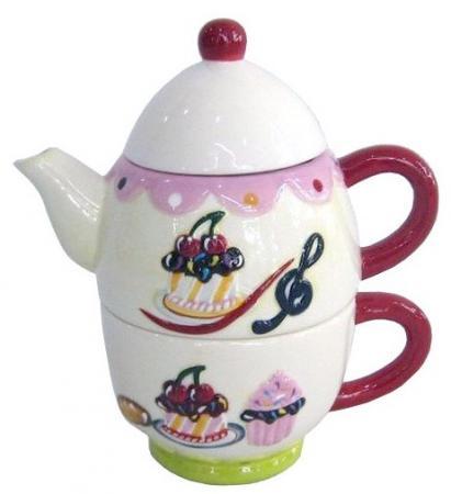 цена на Набор чайный СЛАДКАЯ СИМФОНИЯ, 2 предмета, 17 см, керамика