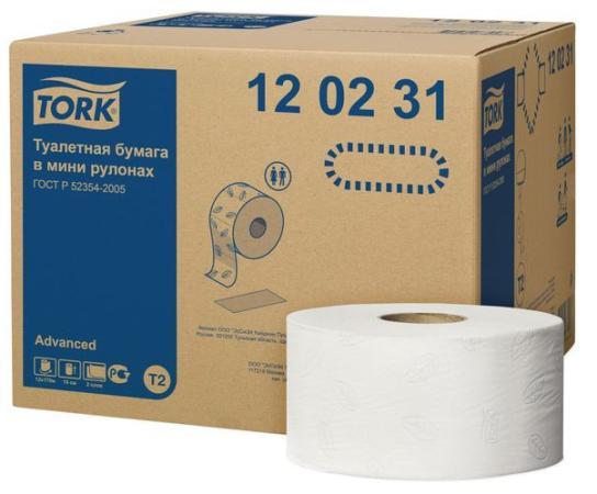 Бумага туалетная Tork 120231/Т 12 шт 2-ух слойная tork салфетки для лица ультрамягкие 2сл 100л коробка 20 шт