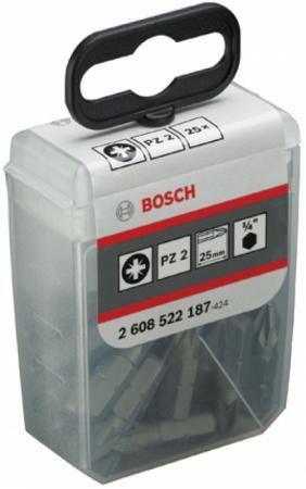 Купить Набор бит BOSCH 2608522187 Набо насадок-бит Eхtra-Hart 25мм PZ 2