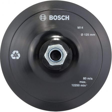 Тарелка опорная BOSCH 2608601077 на липучке 125мм для УШМ тарелка опорная bosch 1609200154 page 3