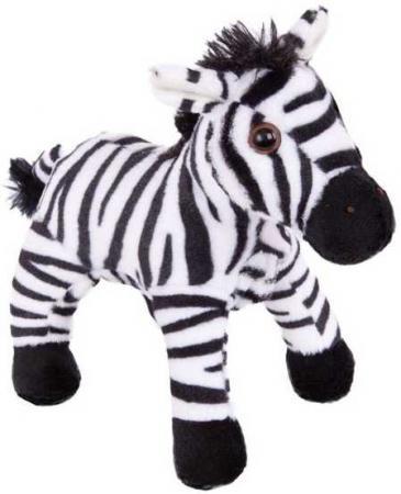 Мягкая игрушка зебра Fluffy Family Зебра 18 см белый черный искусственный мех 681435