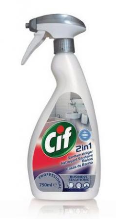 Средство чистящее CIF Washroom 2 в 1, для туалетных комнат, 750 мл цена