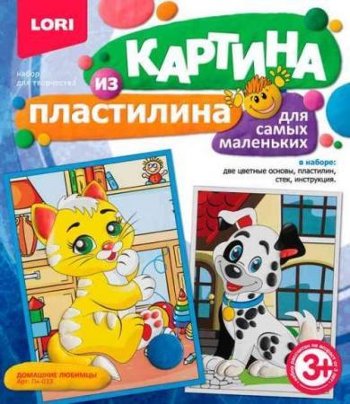 Картина из пластилина Домашние любимцы цена в Москве и Питере