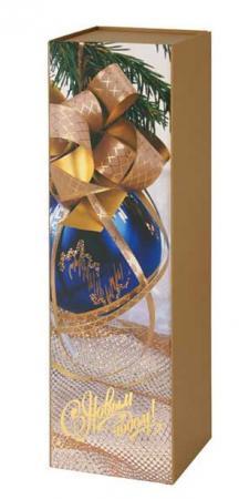 Коробка подарочная Winter Wings под бутылку 9,5x9,5x33,5 см