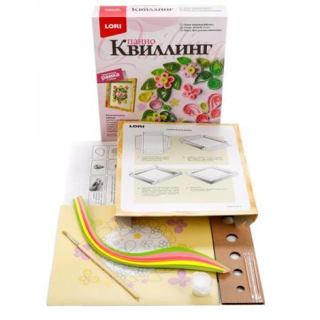 Квиллинг панно Хоровод бабочек набор для творчества lori квиллинг панно русалочка
