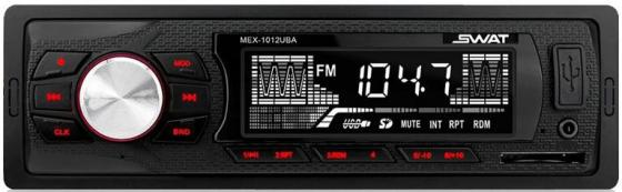 Автомагнитола Swat MEX-1012UBA 1DIN 2x35Вт автомагнитола swat mex 1013ubw 1din 2x35вт