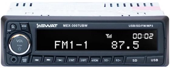 Автомагнитола Swat MEX-3007UBW 1DIN 4x50Вт автомагнитола swat mex 1013ubw 1din 2x35вт